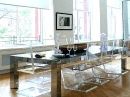 lucite dining chairs top modern clear
