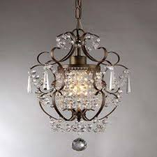 antique bronze indoor crystal chandelier