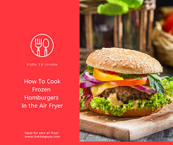Air Fryer Air Fried How To Cook Frozen Hamburgers In The Air