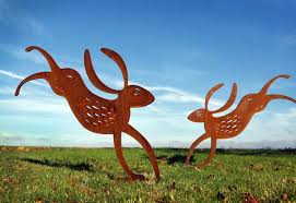 permalink hare garden sculpture crafted from rusted metal gallery