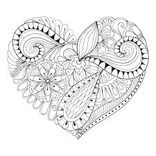 Love Heart Colouring Free Heart Coloring Pages Feat Love Heart