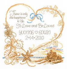 Wedding Cross Stitch Patterns Stunning Imaginating Seaside Wedding Cross Stitch Pattern 48Stitch