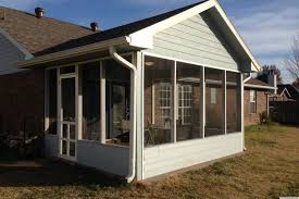 best screened in patio option 2 erect a screen porch kit on your