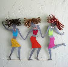 Upcycled Wall Art Hand Crafted Handmade Upcycled Metal Girlfriends Wall Art Piece By