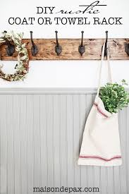 Sturdy Coat Rack Custom DIY Rustic Towel Rack Maison De Pax