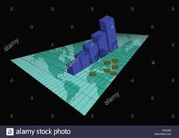 3d Stock Chart Perspective 3d Stock Chart Stock Vector Art Illustration