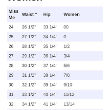 Clean Convert Jean Sizes Chart Jeans Sizing Chart Conversion
