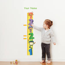 Olivers Labels Team Umizoomi Growth Chart Personalized Wall Decal