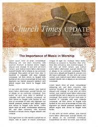 Music Newsletter Templates Vintage Church Newsletter Template Newsletter Templates