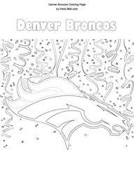 Denver Broncos Football Coloring Pages Color Bros