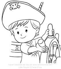 Disegno Di Eddie Pirata Dei Little People Da Colorare