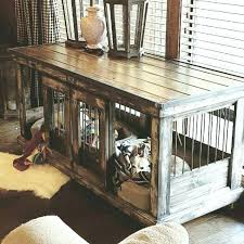 dog kennel end table dog crate table medium size of double dog crate furniture how to