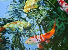 Koi Fish Paintings, Oil Painter, Portrait Artist | Linda Holt.
