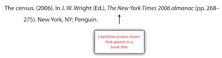 13 3 creating a references section writing for success capitalize proper nouns that appear in a book title while creating a references section