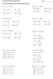 date solving literal equations solve