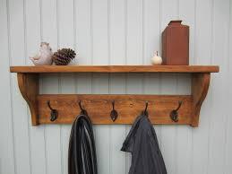 Wall Mounted Coat Rack With Hooks And Shelf Adorable Wall Shelf With Coat Hooks Sevenstonesinc