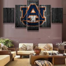 >auburn ncaa football 5 panel canvas wall art home decor canvas  auburn ncaa football 5 panel canvas wall art home decor