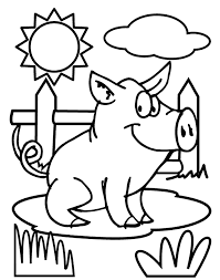 Pig Coloring Page Via Crayolacom Color While Singing Old Mcdonald