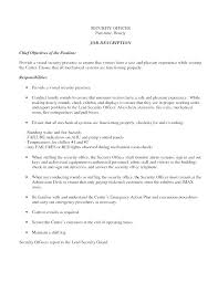 Security Supervisor Resume Security Objectives For Resume Download