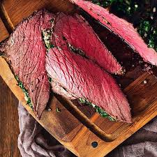 herb crusted top round roast beef by
