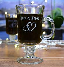 Irish coffee mug the perfect vessel for offering up your signature cappuccinos, mulled ciders, hot chocolates, and more! Personalized Irish Coffee Mugs Glass With A Twist