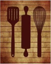 kitchen utensils art. Tamara Robinson Stretched Canvas Art - Kitchen Utensils Small 8 X 10 Inch Wall