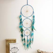Buy Dream Catcher India 100cm Indian Blue Dream Catcher Handmade Dreamcatcher Net with 2