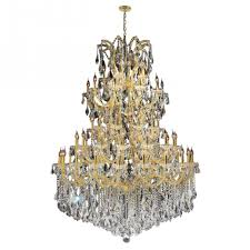 maria theresa collection 61 light gold finish crystal chandelier 54 d x 62 h