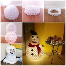 creative homemade christmas decorations. Delighful Creative Plastic Cup Snowmanthese Are The BEST DIY Christmas Decorations U0026 Craft  Ideas With Creative Homemade R