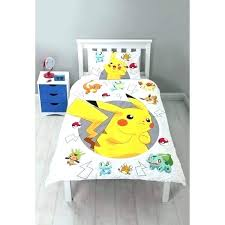 pokemon full bed set sheets full bed set characters single panel duvet cover set image 3