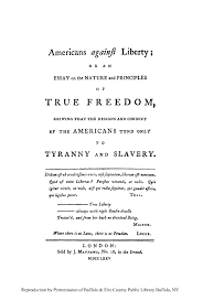 americans against liberty or an essay on the nature and  what is heinonline