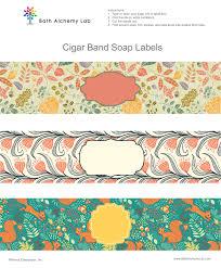 Label Design Free Free Soap Cigar Band Label Wrappers Fall Designs Bath Alchemy Lab