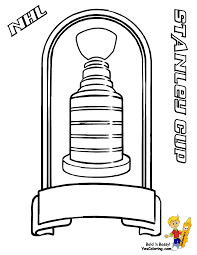 Coloring Page Of Nhl Hockey Stanley