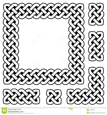 Celtic Rope Designs Black And White Celtic Knot Frame And Design Elements Stock
