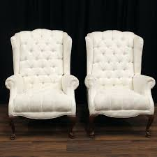 white wingback chair sandy white chair pair off white wingback chairs