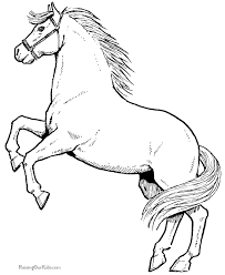 Horses Coloring Sheets 037 Architecture Horse Coloring Pages