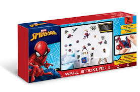 spiderman muurstickers room decor kit