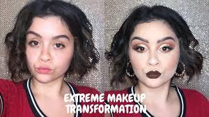 extreme makeup transformation fall cut crease tutorial chulitttaaa