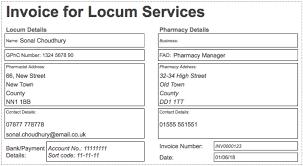 Uk Invoice Sample Locum Pharmacist Invoice Example Template Locate A Locum