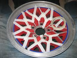 how to paint your own wheels rims masking preping sanding polishing lip wheel rim