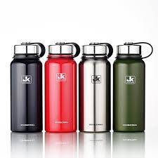 1100ml 37oz stainless steel water bottle double wall insulated vacuum flask wide mouth thermos with tea infuser bpa free