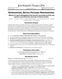 Cpa Resume Templates Commily Com