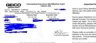 geico auto insurance card