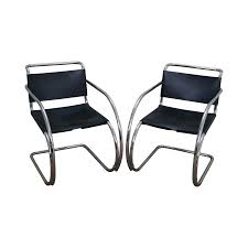 knoll ludwig mies van der rohe chairs pair chairish van der rohe barcelona chair
