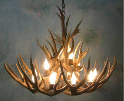 curtain delightful faux deer antler chandelier 3 muledeer bristlecone lt chandeliers for real mccoy elk
