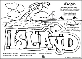 Small Picture Island Coloring Page Earth Wordz Natural World Coloring Book