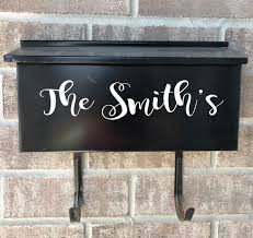 Custom wall mount mailbox Personalized Products Eastcoast Engraving Outdoor Vinyl Decals For Wallmount Mailboxes One Line Danielle