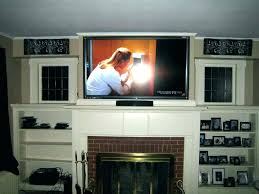 how to hide wires for wall mounted over fireplace mounting above medium size of mount on brick tv