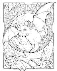 Fantasy Cat Coloring Page Colouring Pages Pinterest Cat