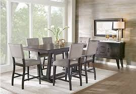 dining room table height. hill creek black 5 pc counter height dining room table